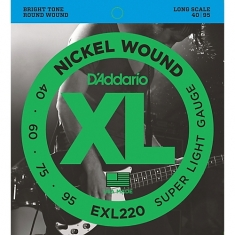 Encordoamento D'addario Baixo 4C Super Light, 40-95