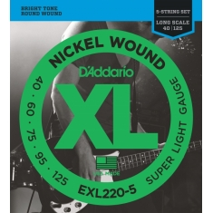 Encordoamento D'addario Baixo 5C Super Light, 40-125