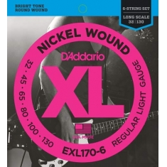 Encordoamento D'addario Baixo 6C Regular Light, 32-130