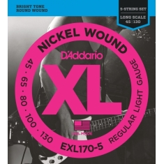 Encordoamento D'addario Baixo 5C Regular Light, 45-130