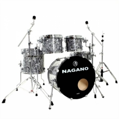Bateria Nagano Concert Traditional Celulloid Abalone Gray
